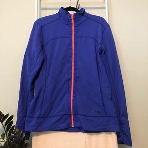 The North Face Cobalt Blue Orange Zipper Jacket